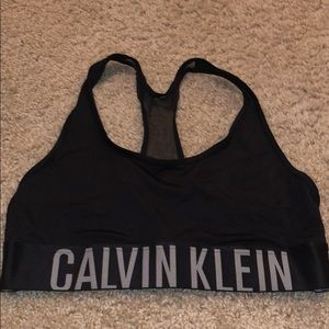Calvin Klein black sports bra